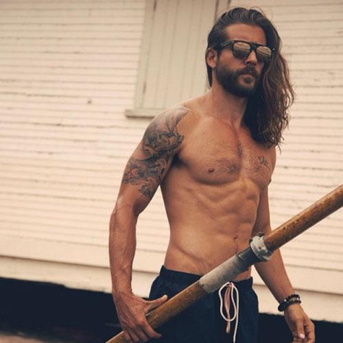 Uzun Surfer de pelo para los hombres