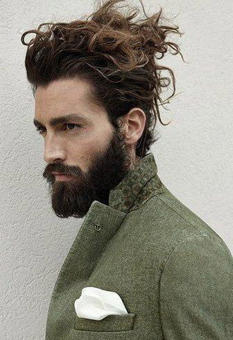 Messy Bun peinado Hombres