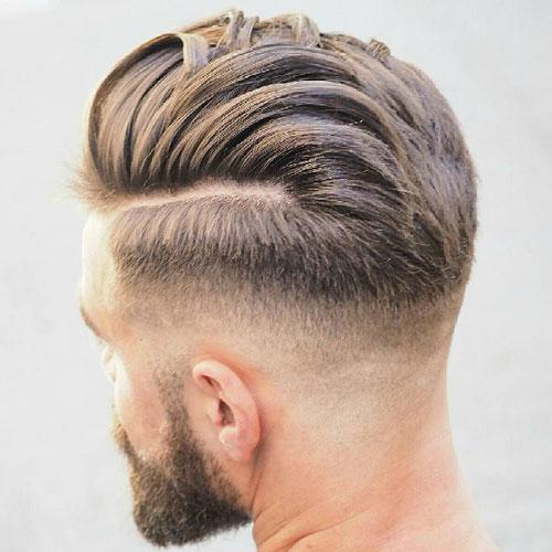 Pretty Boy pelo - Mediados de fundido con la parte difícil y textura Pelo alisado