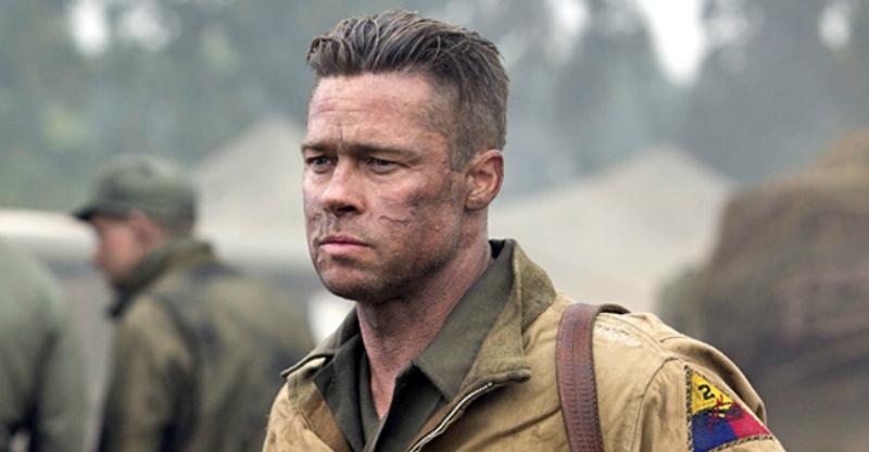 Brad Pitt buzzcut ejército furia Brad Pitt corte de pelo