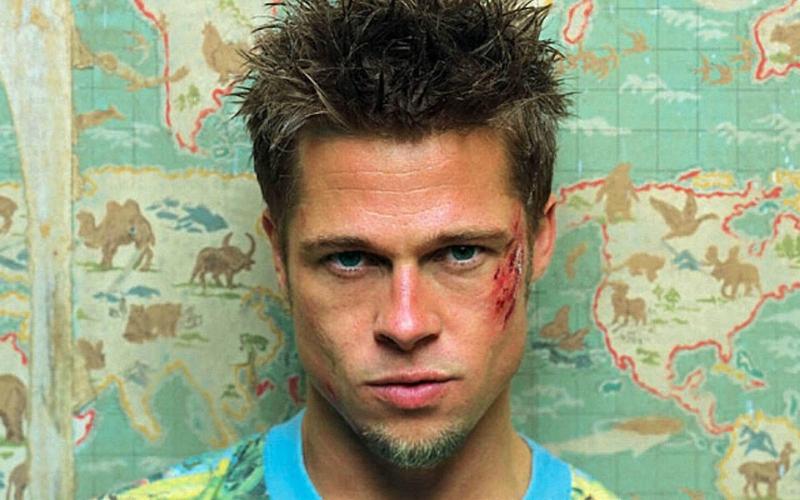 Brad Pitt haircut pico club de la lucha