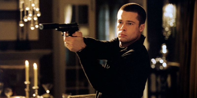 Brad Pitt atajo afeitado apurado señor y la señora Smith