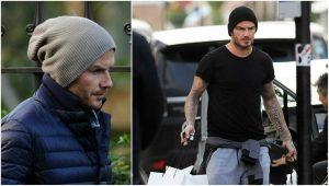 David Beckham gorrita tejida