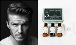 David Beckham del vello facial