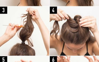Peinados bollo medio ¿Como es eso?