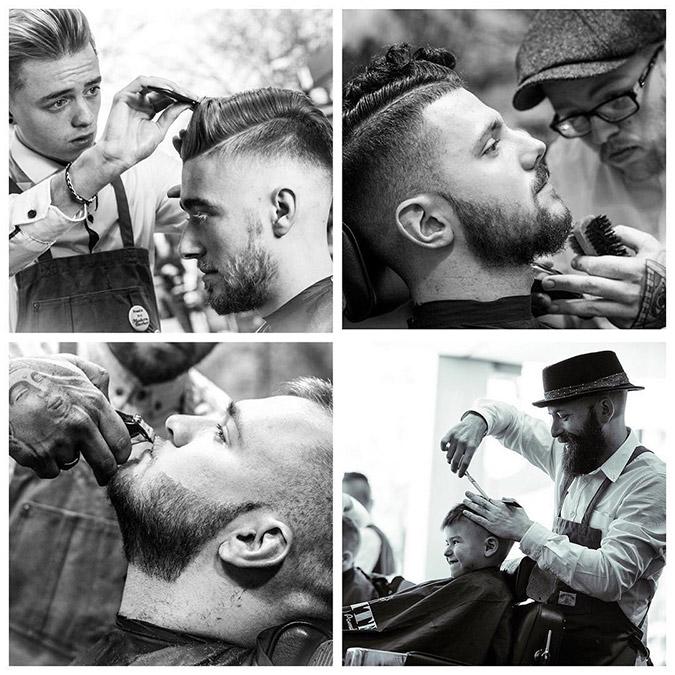 En la silla barberos