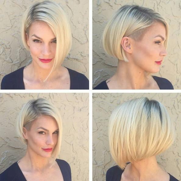 Aymmetrical, recto corto Bob Corte de pelo - corto con estilo del peinado Designs