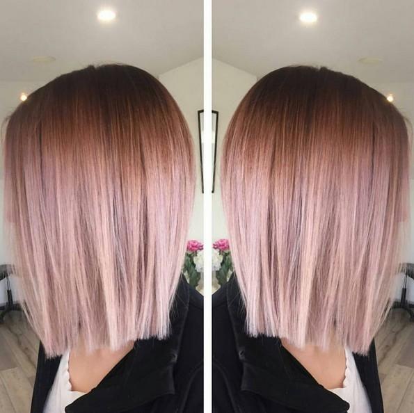 Blunt, Directo pelota alta Hair Style - Balayage, Ombre Peinados para cabello fino