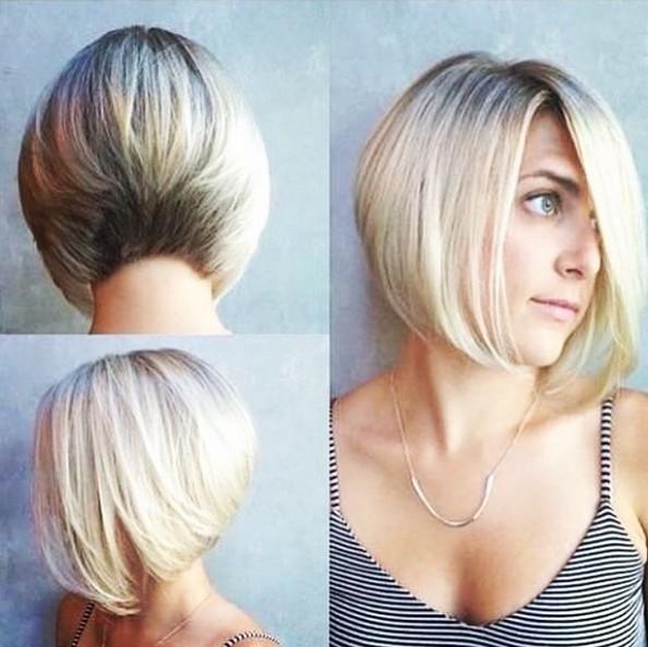 Classic Una línea de corte de pelo Bob - cortes de pelo corto recto