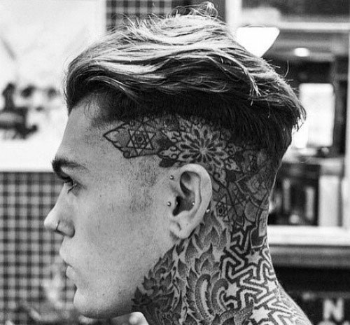 Fade corte de pelo - piel de alta fundido
