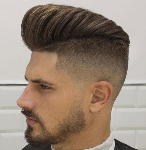 Fade corte de pelo - Fundido de alta con el pelo largo