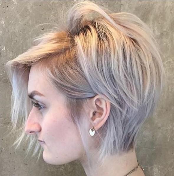 Gran peinado Todos los días corto para cabello fino