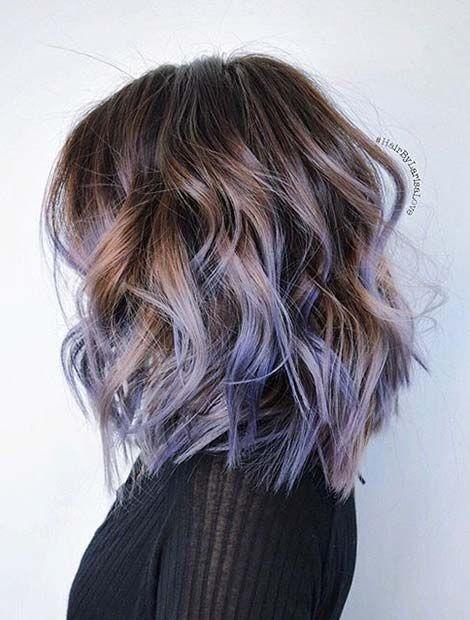 pelota alta corte de pelo con la señal de pelo - De moda Color de pelo diseños para las mujeres y Girs!