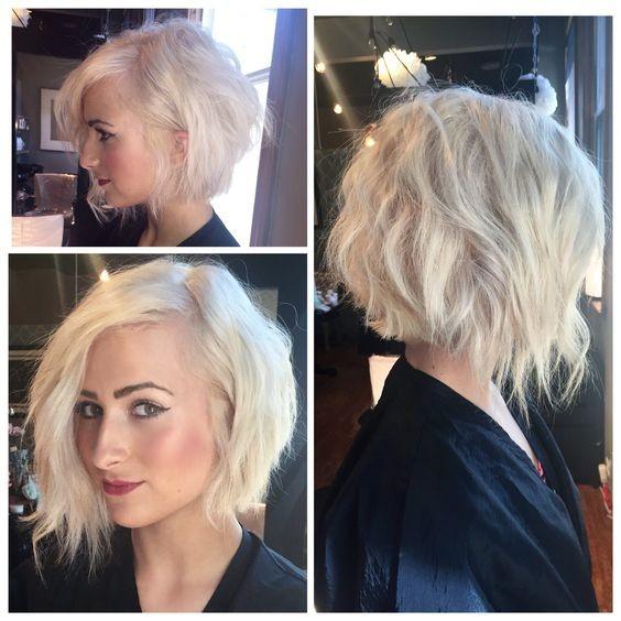 Messy corte de pelo corto rubio con cabello fino - Mujeres peinado corto Ideas