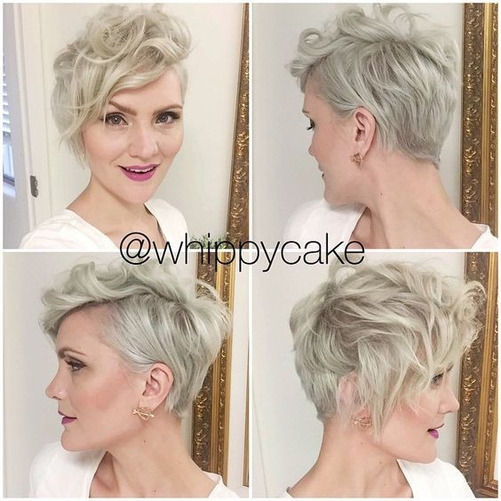 Messy, en capas onduladas peinados con Pixie Side Bangs - cortes de pelo corto para las mujeres