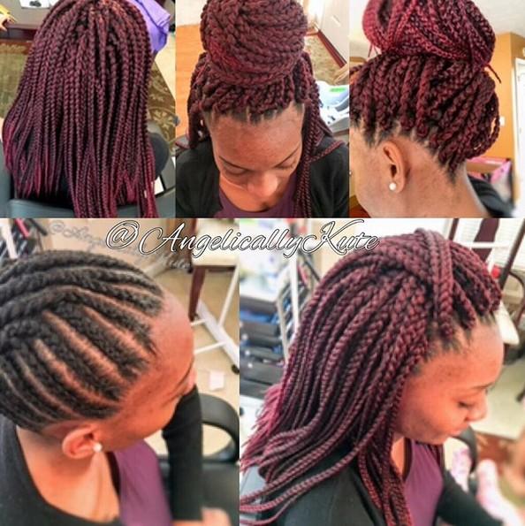 ordenado y planas ganchillo Box Trenzas - Peinado afroamericano para las mujeres