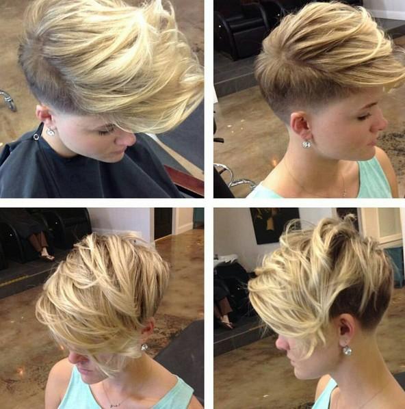 textura, Afeitado corte de pelo corto - peinados sucios de corto cabello fino