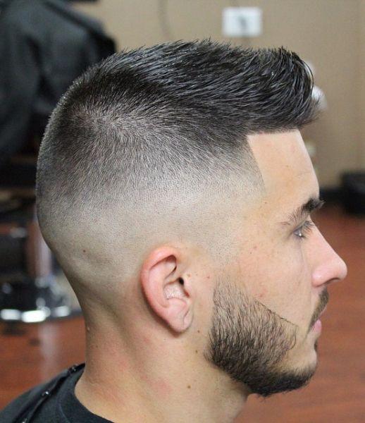 fade calva corte de pelo