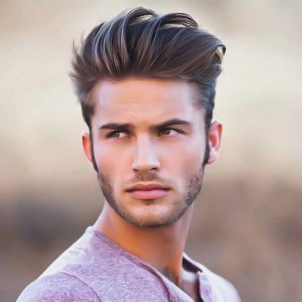 peine de desvanecimiento sobre cortes de pelo para los hombres