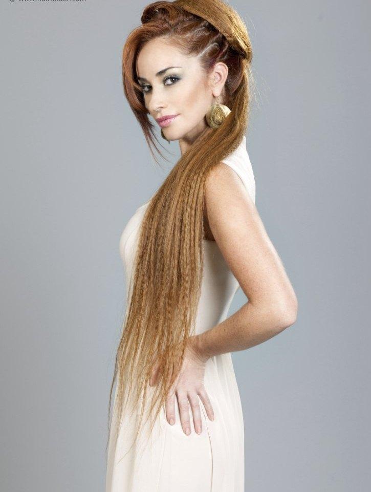 riza el pelo largo peinado