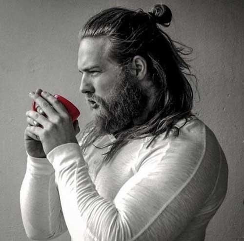 Hombres completos Cola de caballo peinados-8