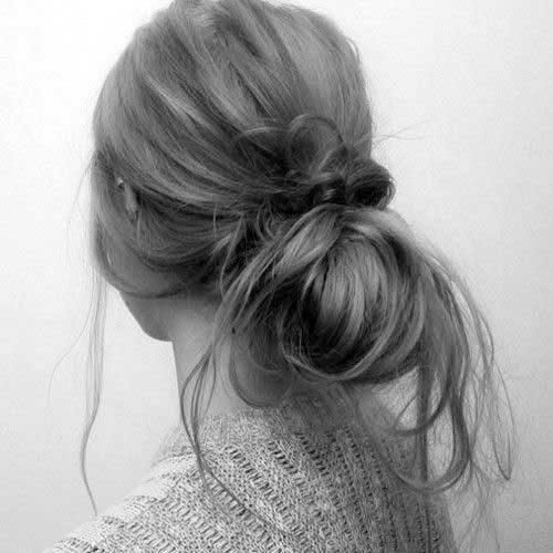 peinado del bollo ocasional para las mujeres 2016