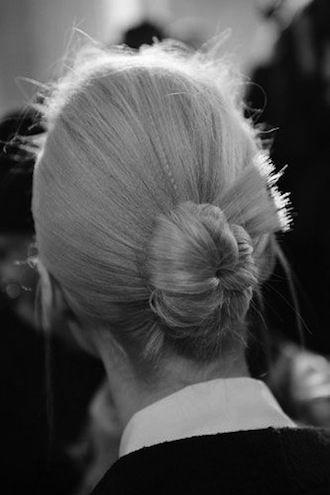 ondulado peinado de moño
