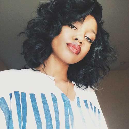 bob peinado rizado para las mujeres negras 2016