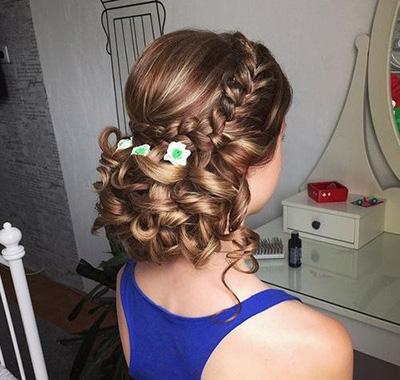 Los peinados de boda de compromiso mezclado bollo