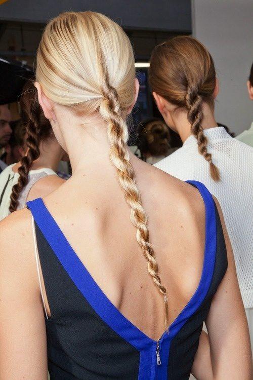 peinado trenzado de cola de caballo cuerda para el 2016