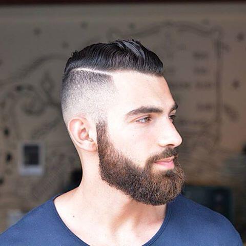 lado peinado línea