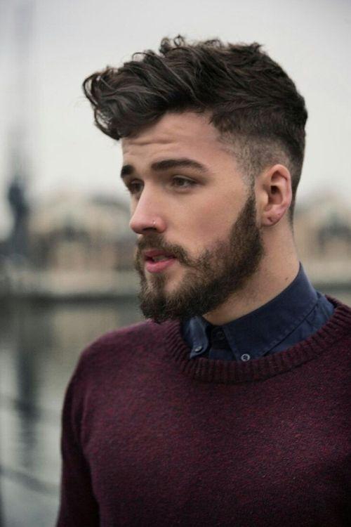 mens secundarios afeitado peinados con barba