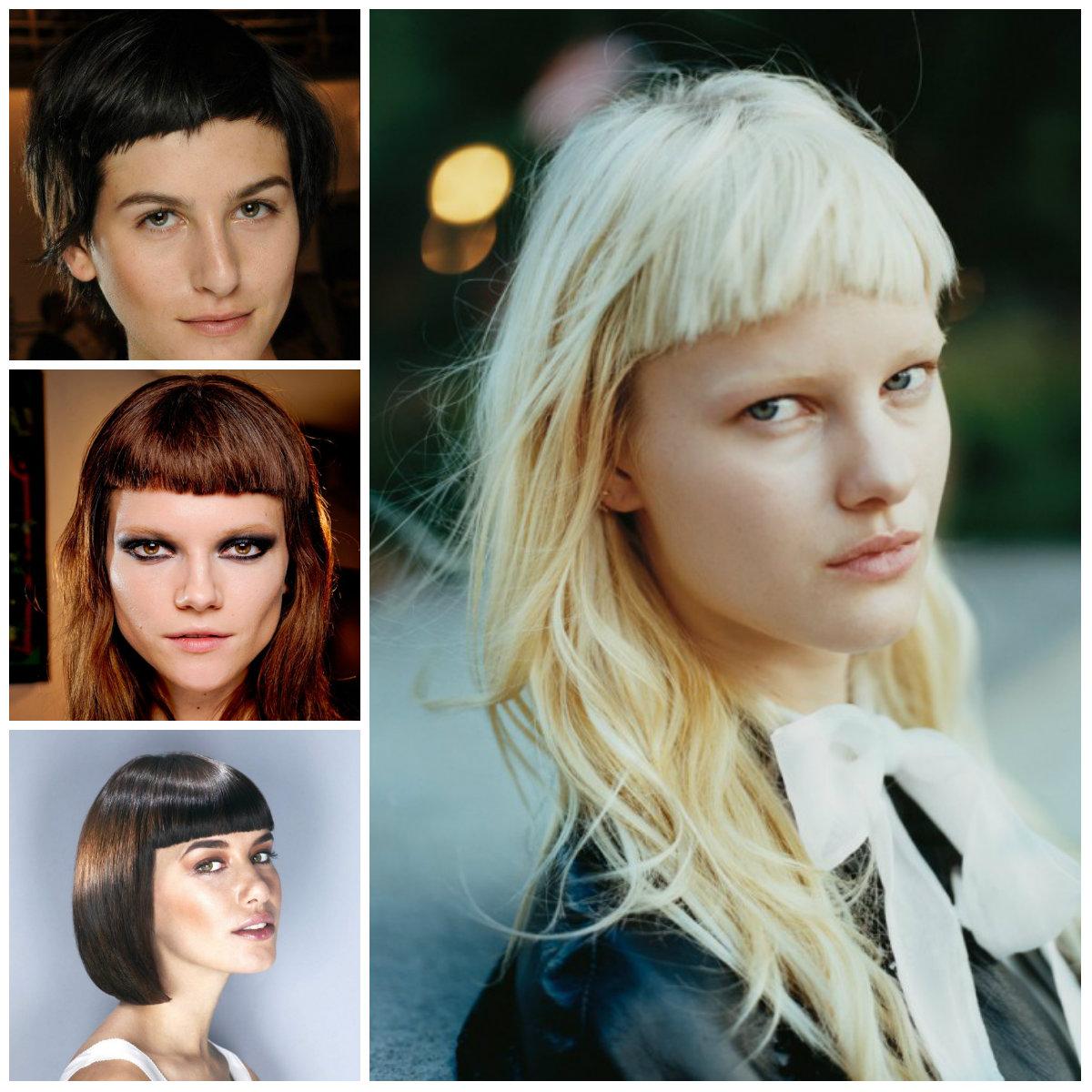 Las mujeres con cortes de pelo corto Bangs