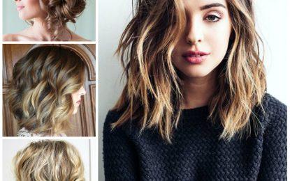 Estilos de cabello rizado magnífico para el pelo de longitud media