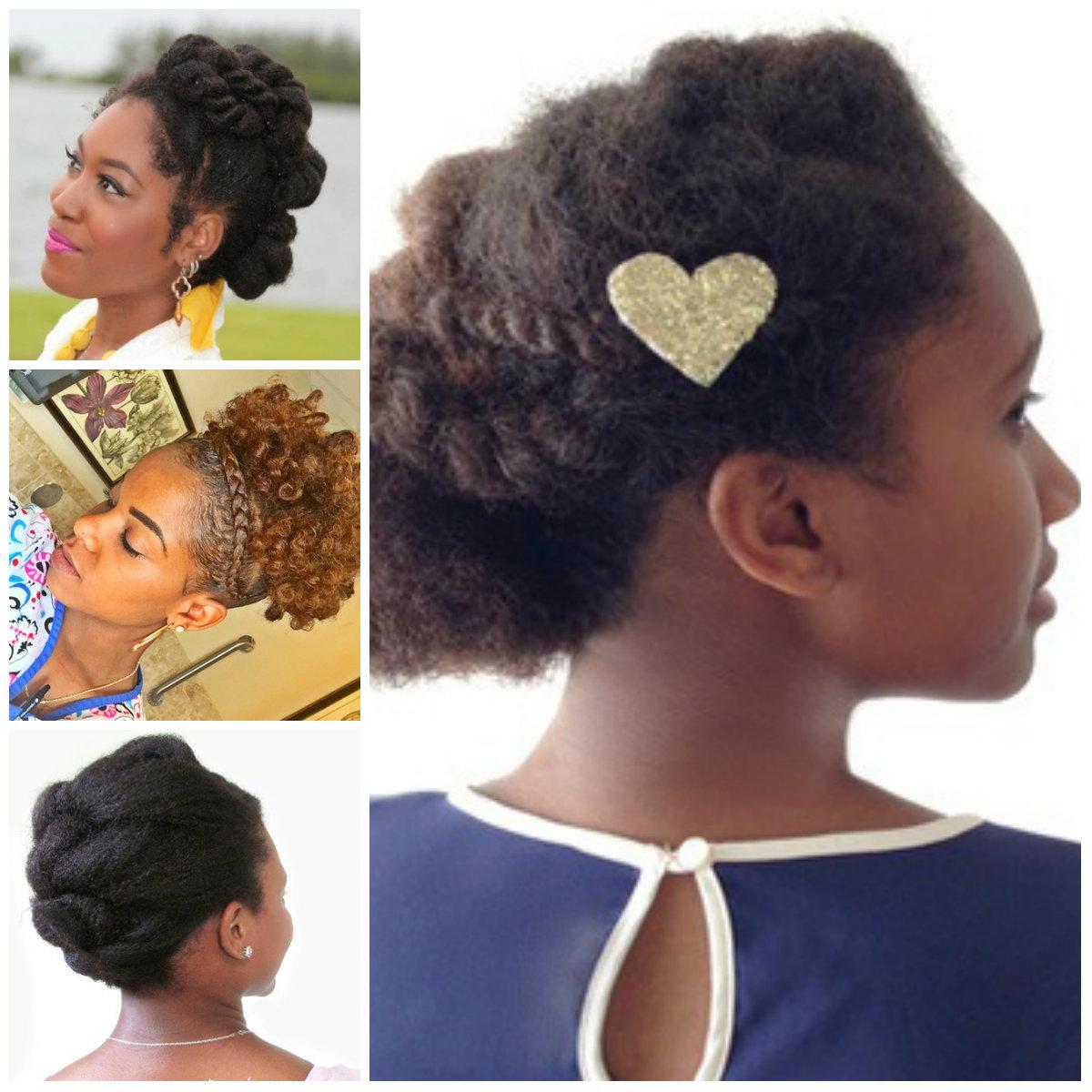 Updos blandas para cabellos naturales