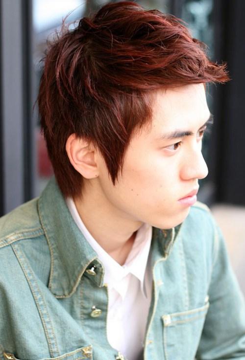Estilo de pelo de moda de Corea Moda Hombres