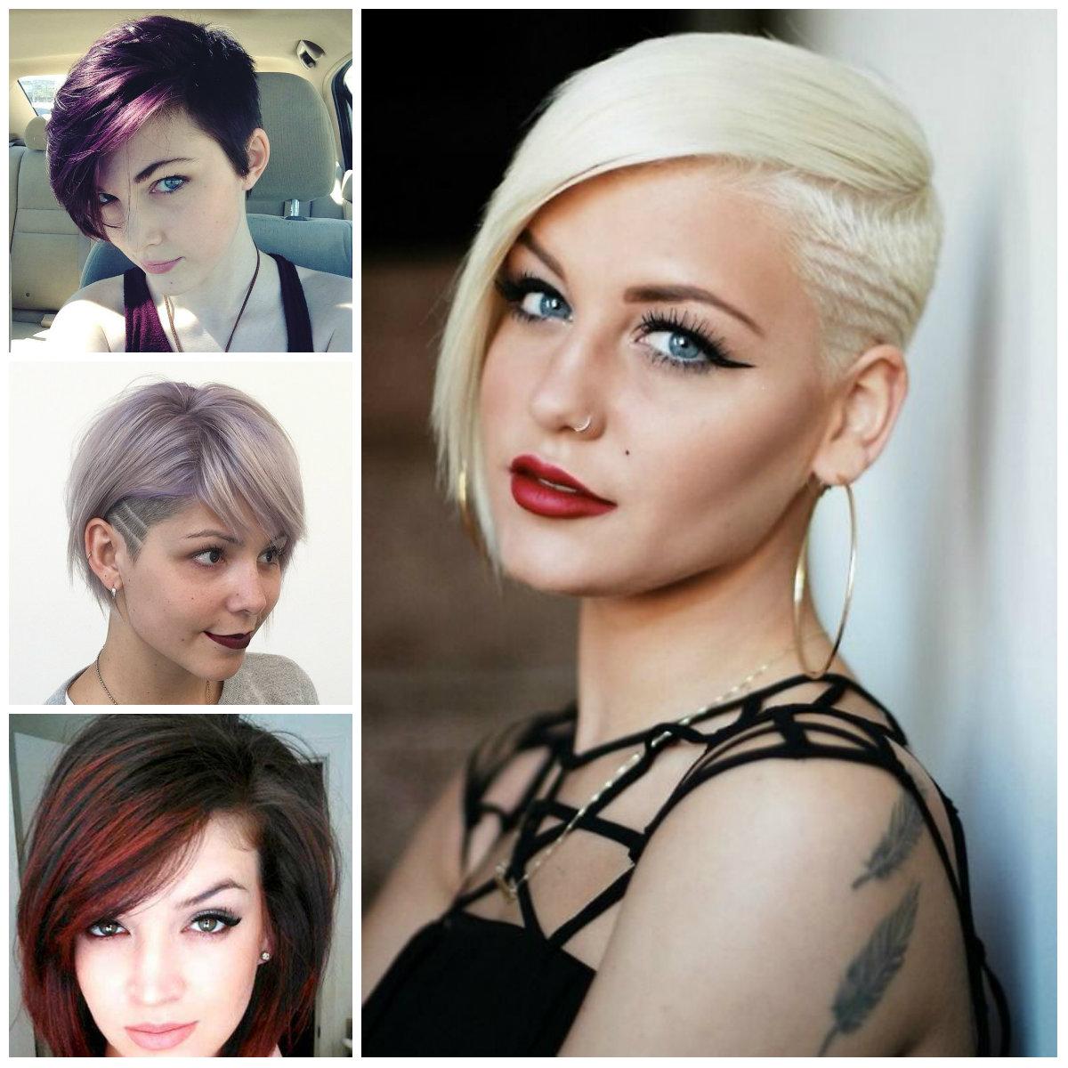 Mujeres Corto Cortes de pelo con flequillo