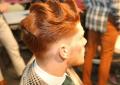 Recién salido de la barbería peinados