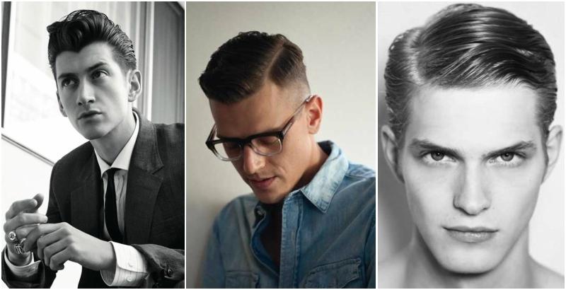 hombre de pelo slick 50s peinado 2016 raya a un lado SS16