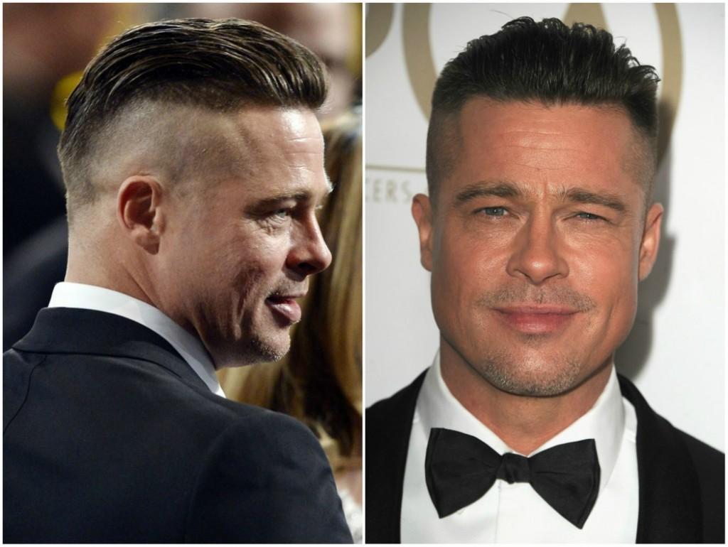 Brad Pitt peinado alto y estrecho