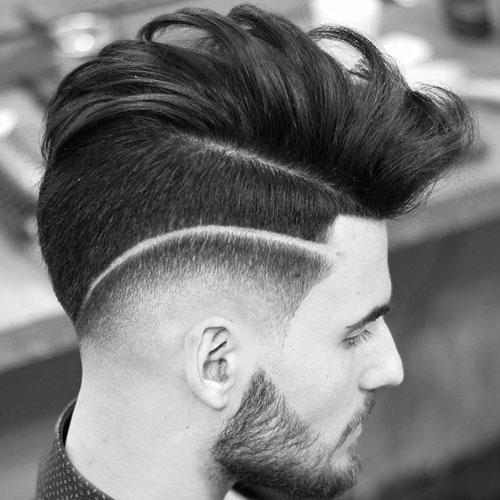 individuo lindo corte de pelo - gota Fade y la parte quirúrgica con Long peinados de pelo largo