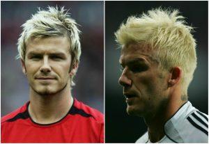 David Beckham pelo blanqueado