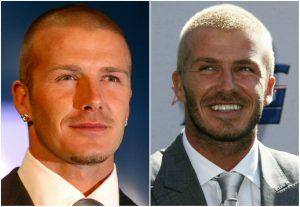 David Beckham buzzcut