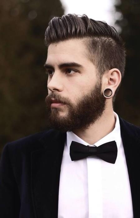 peinado de lado peinado medio para los hombres con barba 2016
