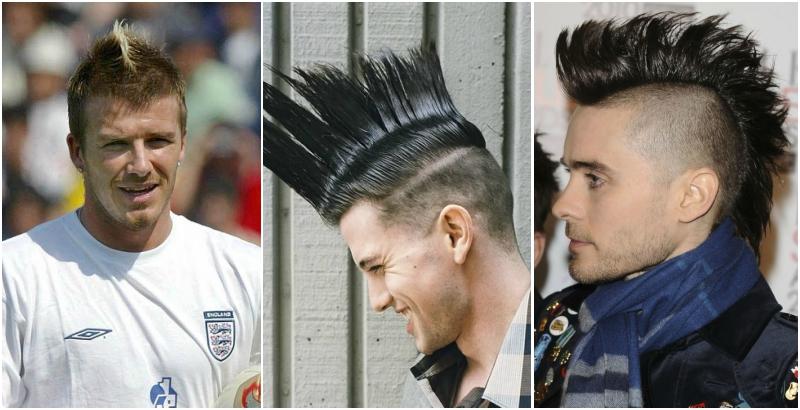 mohawk mohican peores peinados Jared Leto David Beckham