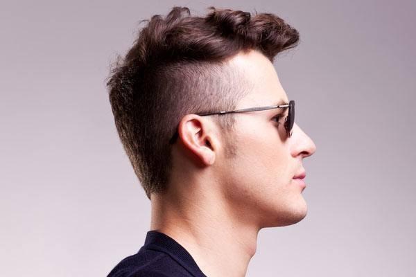 -2015 de estilo de pelo corto y rizado-hombre-rebajada-detalle-de-la-sides