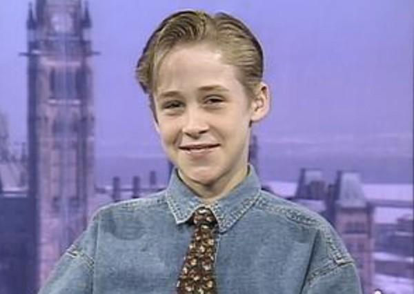joven Ryan Gosling camisa vaquera corbata
