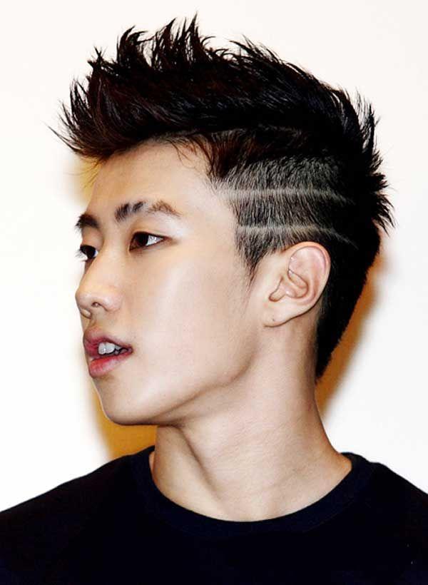 hombre asiático peinado