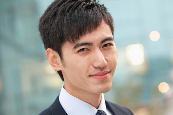 moda asiática peinado Hombres